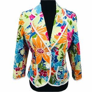 Willi Smith Floral Jacket, Multicolor, Medium